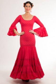 Traje de flamenca de Micaela Villa 2015: Lucero Rojo C02