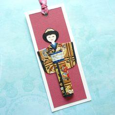 Handmade origami kimono doll bookmark (B490). $2.50, via Etsy.