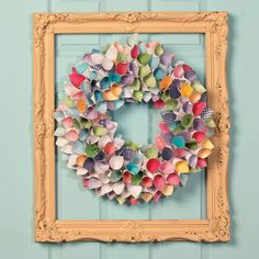 Spring Paper Wreath project idea
