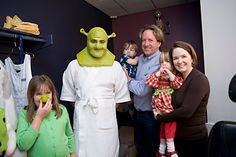 """It isn't easy being an Ogre. Just ask Lukas """"Shrek"""" Poost during his 1 hour and 45 minutes transformation. © Eva Lempert"""