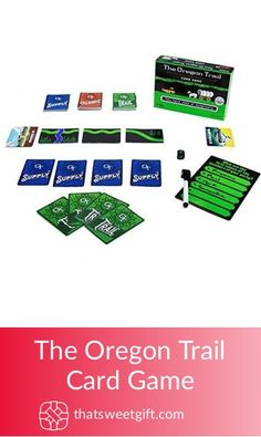 Relive the fond and nostalgic memories of one of the world's most beloved computer games with the Oregon Trail Card Game! Oregon Trail Card Game, 30th Birthday Gifts, Gamer Gifts, Fun Games, Card Games, Unique Gifts, The Originals, Website, Amazon