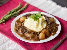 Mushroom lentil bourguignon [Vegan]