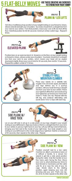 Flat belly moves