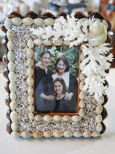 Shell and Coral Picture Frame - Abode Design Shop
