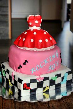 Rock 'n roll taart