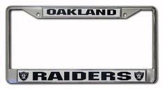 Oakland Raiders License Frame