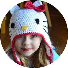 Crochet in Color: Hello Kitty Hat Pattern