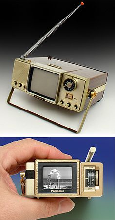 Collectible Television: Soy 4-204UW Walkie Watchie, Panasonic TR-1030P TV
