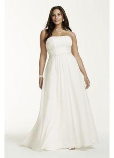 9c5423b5bf6e1 Chiffon Empire Waist Plus Size Wedding Dress 9V9743 Wedding Dresses Plus  Size
