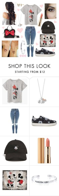 """""""Minnie mouse """" by eliskiku ❤ liked on Polyvore featuring Kate Spade, Disney, Topshop, MOA Master of Arts, Forever 21, Axiology and Belk Silverworks"""