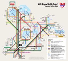 WDW Transportation Map