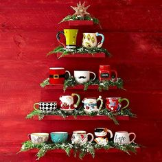 Vintage christmas kitchen mugs 62 ideas Christmas Kitchen, Noel Christmas, Winter Christmas, All Things Christmas, Vintage Christmas, Christmas Coffee, Simple Christmas, Xmas, Christmas Drinks