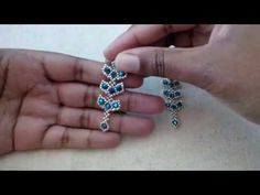 Wire Wrapped Earrings, Wire Earrings, Wire Wrapped Pendant, Earrings Handmade, Handmade Jewelry, Beaded Earrings Patterns, Beading Patterns Free, Cute Jewelry, Beaded Jewelry
