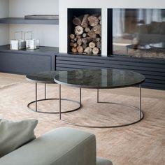 Round Nesting Coffee Table Set - Sofa/sideborde - CasaShopping