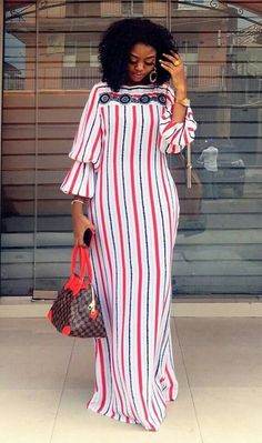 Gown Source by Wafems fashion dresses Short African Dresses, Latest African Fashion Dresses, African Print Dresses, African Print Fashion, African Print Dress Designs, Casual Chique, Moda Emo, African Attire, The Dress