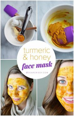 DIY Turmeric & Honey Face Mask - Turmeric is powerful in treating acne, rosacea and even eczema. Make this easy  2-ingredient face mask and start healing your breakouts today! #SugarScrubForFace Turmeric Face Mask, Honey Face Mask, Honey For Face, Honey Facial, Diy Mask, Diy Face Mask, Turmeric And Honey, Face Mask For Blackheads, Pimples