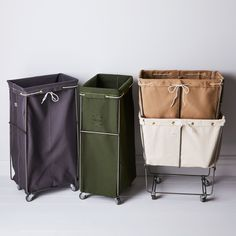 Elevated Laundry Basket with Wheels