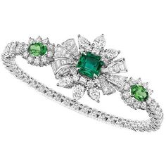 Soie Dior one of the most impressive high jewellery collections of the... ❤ liked on Polyvore featuring bracelets