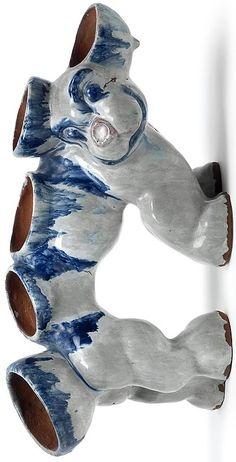 Dina Kuhn (Austrian, 1891–1963) Title:     Kakteenträger in Form eines Fabeltiers , ca. 1925  Medium:     ceramic, painted Size:     15.5 x 31 cm. (6.1 x 12.2 in.) Delft, Form, Glass Art, Designers, Ceramics, Artists, Female, Medium, Cactus