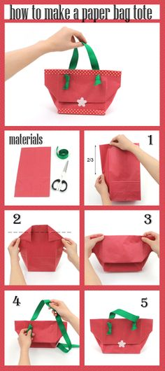 Make a tote bag from a paper bag!