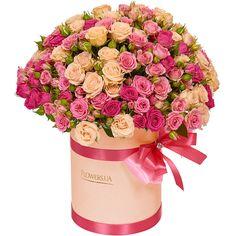 Нежный букет роз в коробке - идеальный подарок для прекрасной девушки! / Bouquet of roses in a box - the perfect present!    Roses in box, roses in boxes, roses box flower, box roses
