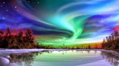 Incredible beautiful view of Aurora at Winter, Norway