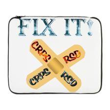 "CRPS RSD Fix IT Band-Aid awarene 17"" Laptop Sleeve"