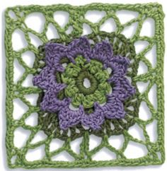 A granny square is a piece of square fabric produced in crochet by working in rounds from the center outward. Granny squares are made separately and then assembled to create a blanket. Since you work