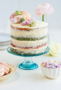 Coconut and Vanilla Naked Cake with Mascarpone Frosting supergolden bakes
