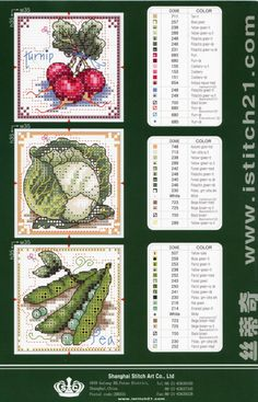 A series of counted cross stitch charts - can be saved as a jpg file although the size and clarity are not the best. (Note: Linked webpage is not in English.)