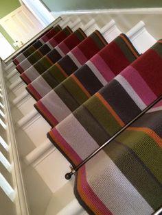 Best Carpet Runners For Hallways Code: 2563100682 Hallway Carpet Runners, Cheap Carpet Runners, Stair Runners, Mdf Skirting, Striped Carpets, Alternative Flooring, Modern Farmhouse Interiors, Textured Carpet, Vinyl Tiles