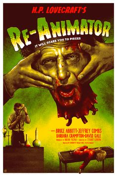 """kogaionon: """" Re-Animator (Frankenstein Homage) by Adam Rabalais / DeviantArt / Facebook / Twitter / Tumblr / Instagram / Etsy / Store 24"""" x 36"""" screen print, numbered edition of 100. Available from..."""