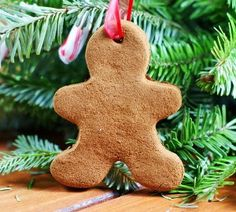 Cinnamon ornaments are a lot of fun for kids to make because they can take craft time to the kitchen. These Cinnamon Gingerbread Men Ornaments are simply adorable, and they will bring some extra cheer to the family tree.   AllFreeKidsCrafts.com