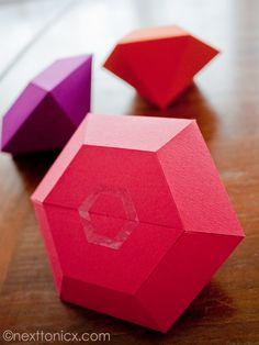 Diamond shaped gift box packaging