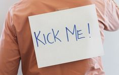 """Please Kick Me: How We Project """"Weakness"""" and Risk Turning Ourselves Into Victims http://www.theemotionmachine.com/please-kick-me-how-we-project-weakness-and-risk-turning-ourselves-into-victims"""
