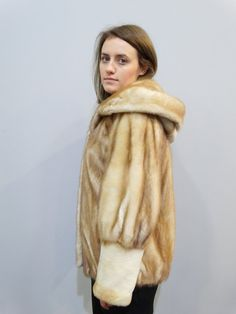 Real fur coat mink fur coat hooded coat winter by FilimegasFurs Mink Colour, Winter Fur Coats, Mink Fur, Hoods, Model, Jackets, Fashion, Mathematical Model, Down Jackets