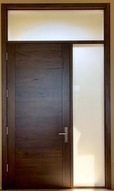Rustic Medieval Walnut, Hand-Crafted, Custom-Woodworking Modern Entrance Door, Modern Front Door, Modern Entryway, Grand Entrance, Entrance Doors, Walnut Doors, Wood Doors, Barn Doors, Arched Doors