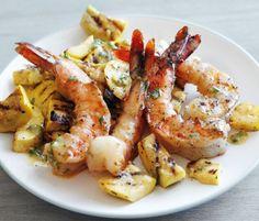 Grilled Shrimp and Summer Squash.