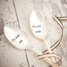 A Personalised Vintage Teaspoon Set.  Selected and hand stamped by La de da Living, Cheltenham.