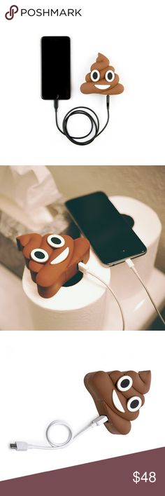 POOP POWER BANK The most magnificent charger ever! Perfect for charging your phone on the go!  Up to 2 Full Charges! 2700 MAH Capacity  Includes Micro Charging USB Cable (to recharge the emoji battery) Available in other great styles Supports iOS and Android devices only Accessories Phone Cases