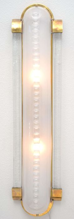 Vintage Pair of Murano Glass & Brass Sconces | From a unique collection of antique and modern wall lights and sconces at http://www.1stdibs.com/furniture/lighting/sconces-wall-lights/