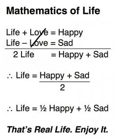 funny geeky pics, geek humor, the mathematics of life : explained