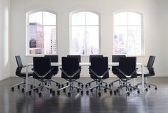 Linq Chairs and Span Table from Davis Furniture