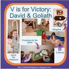 Preschool Alphabet: V is for Victory for David