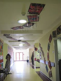 Magic Carpets!  Cool!  Pin them right to the dropped panel ceiling!