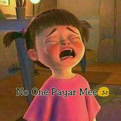 No one pyar me Cute Baby Quotes, Cute Funny Quotes, Some Funny Jokes, Girly Quotes, Funny Talking, Alone Girl, Vsco, Besties Quotes, Crazy Girl Quotes