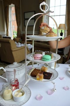 Afternoon Tea at the Four Seasons hotel in Hampshire. Time to tuck in. More on the blog.