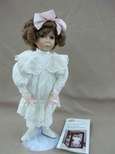 """Dianna Effner's  Porcelain """"Naughty"""" Little Girl with a Curl Doll by Ashton Drake"""