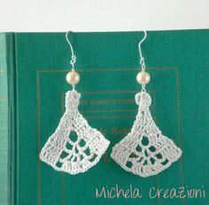 Lace crochet earrings ~ inspiration