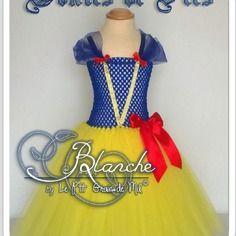 5/6 ans ☆ robe tutu déguisement de princesse bébé/fille ☆ costume blanche neige ☆ cadeau original noël anniversaire